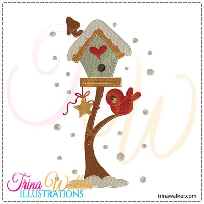 Birdhouse clipart winter, Birdhouse winter Transparent FREE.