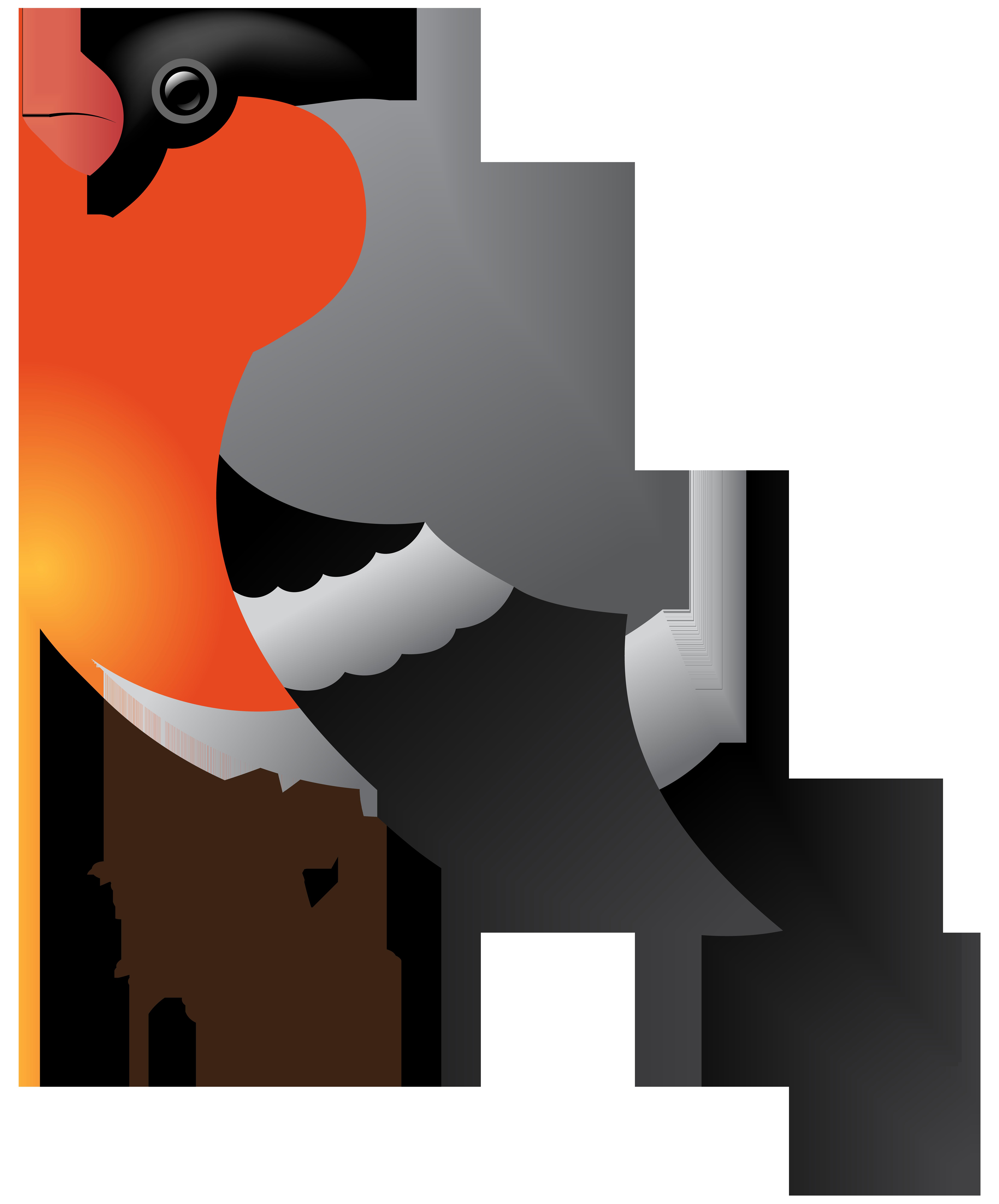 Winter Bird Transparent PNG Clip Art.