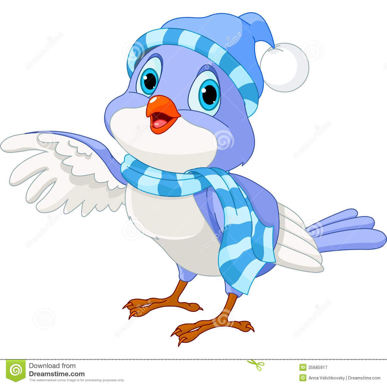Birds In Winter Clipart.