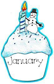 Winter Birthday Clipart.