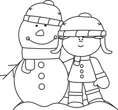 Winter black and white clipart 3 » Clipart Station.