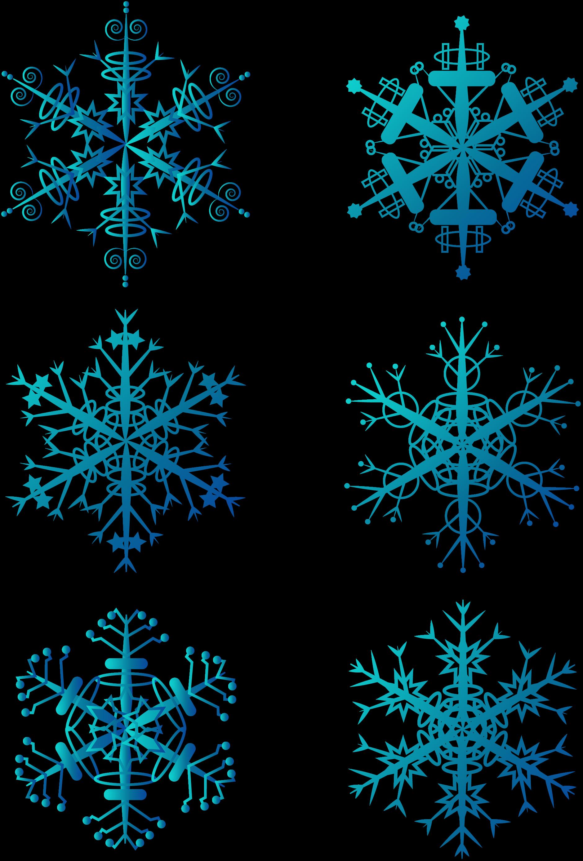 Winter Snowflakes Blue Christmas Snowflake Decorations.