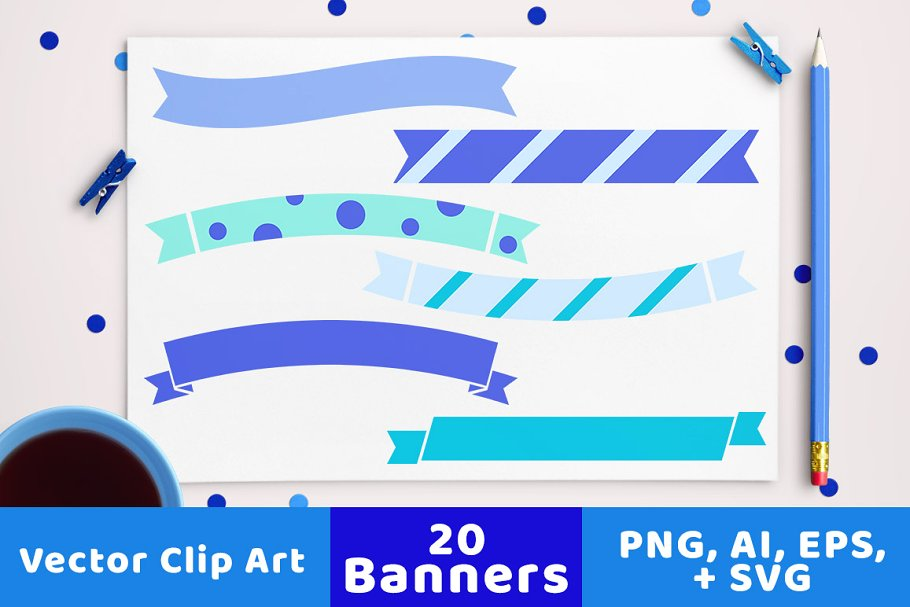 20 Winter Banners Clipart ~ Illustrations ~ Creative Market.