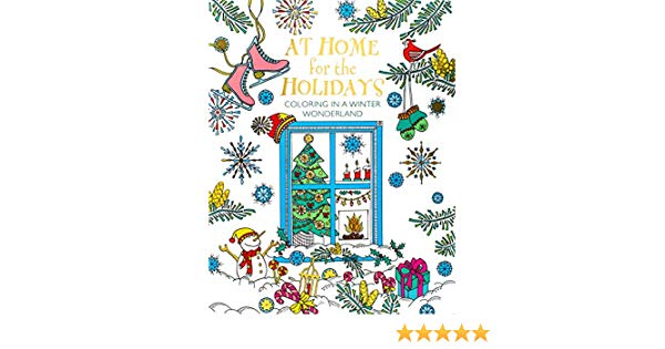 Amazon.com: At Home for the Holidays: Coloring in a Winter.