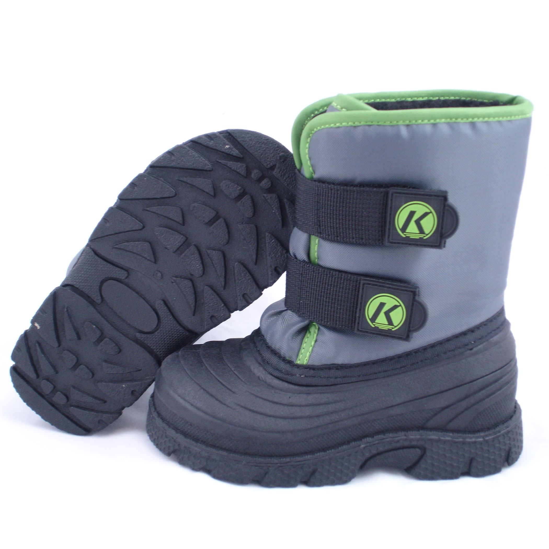 Kids winter boots clipart.