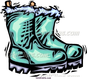 Snow Boots Clipart.