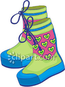 Girl boots clipart.