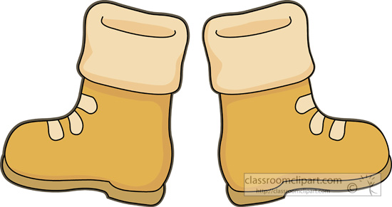 Winter Boots Clipart.