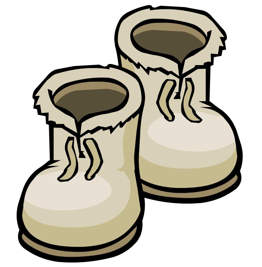 Winter boots clip art.