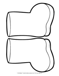 winter boot templates.