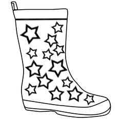 Rain Boots Clipart Black And White.
