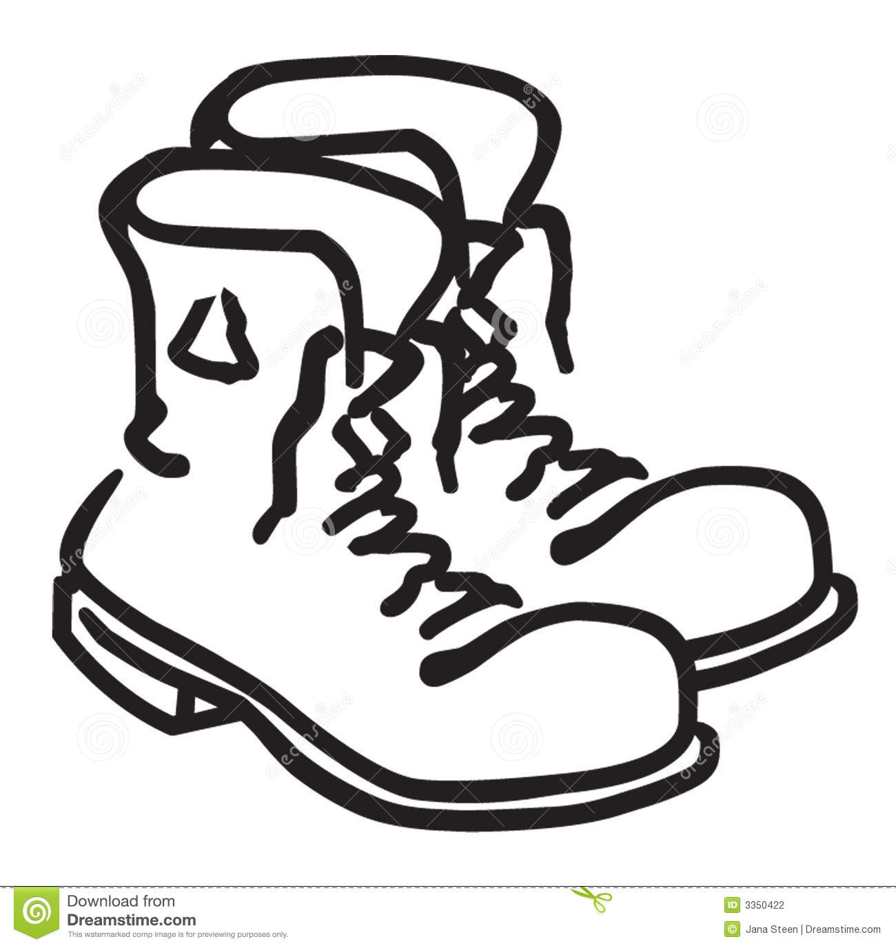 Clip Art Black And White Winter Boots Clipart#2003426.