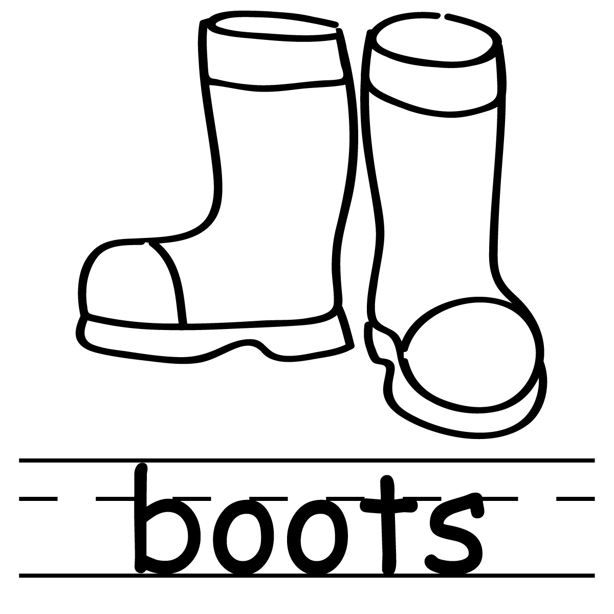 Winter Boots Clipart Black And White.