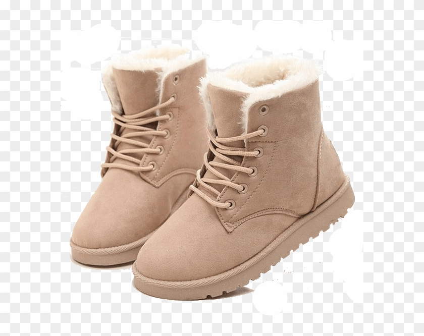 Women Boots Snow Warm Winter Boots Botas Lace Up Mujer.
