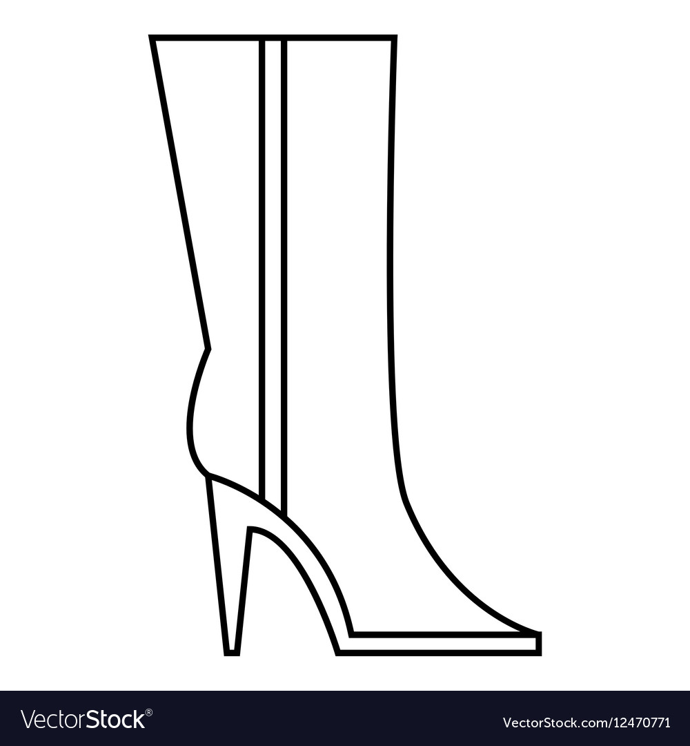 Women winter boots icon outline style.