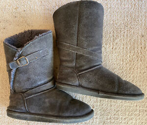 Details about Annie Bearpaw Winter Boots Charcoal Gray Mid.