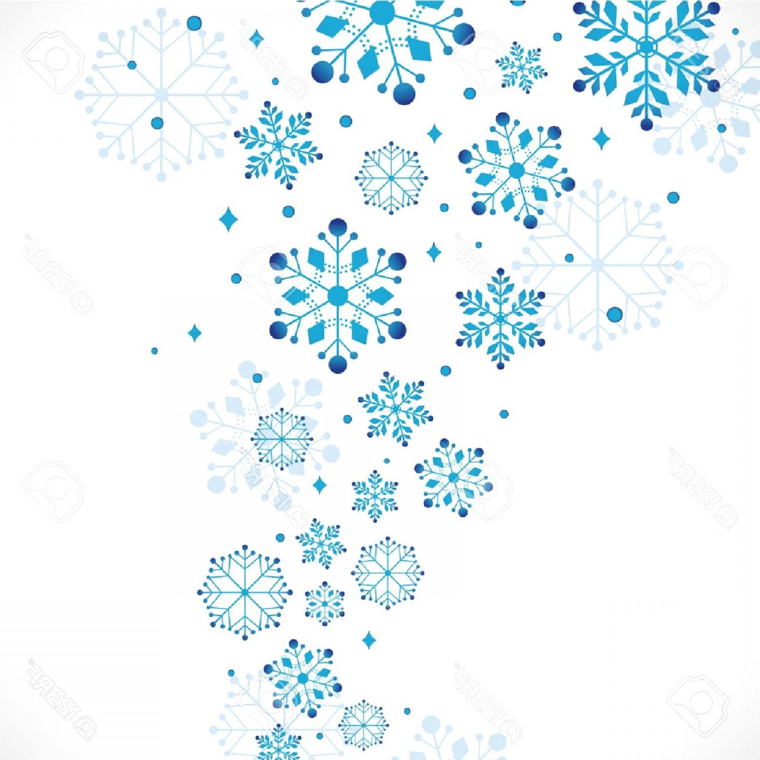 Snow Clipart Background Vector Illustration Stock Snowflake Border.