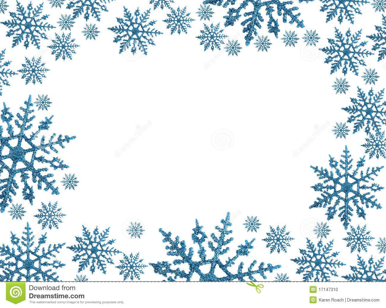 Snowflake Circle Border Clip Art.