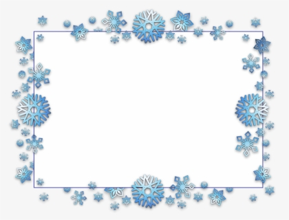 Free Snowflake Borders Clip Art with No Background.