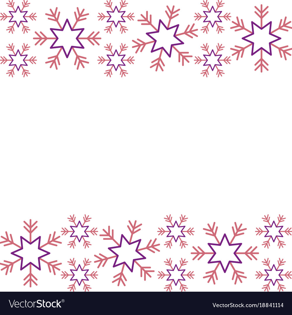 Christmas border snowflake winter design.