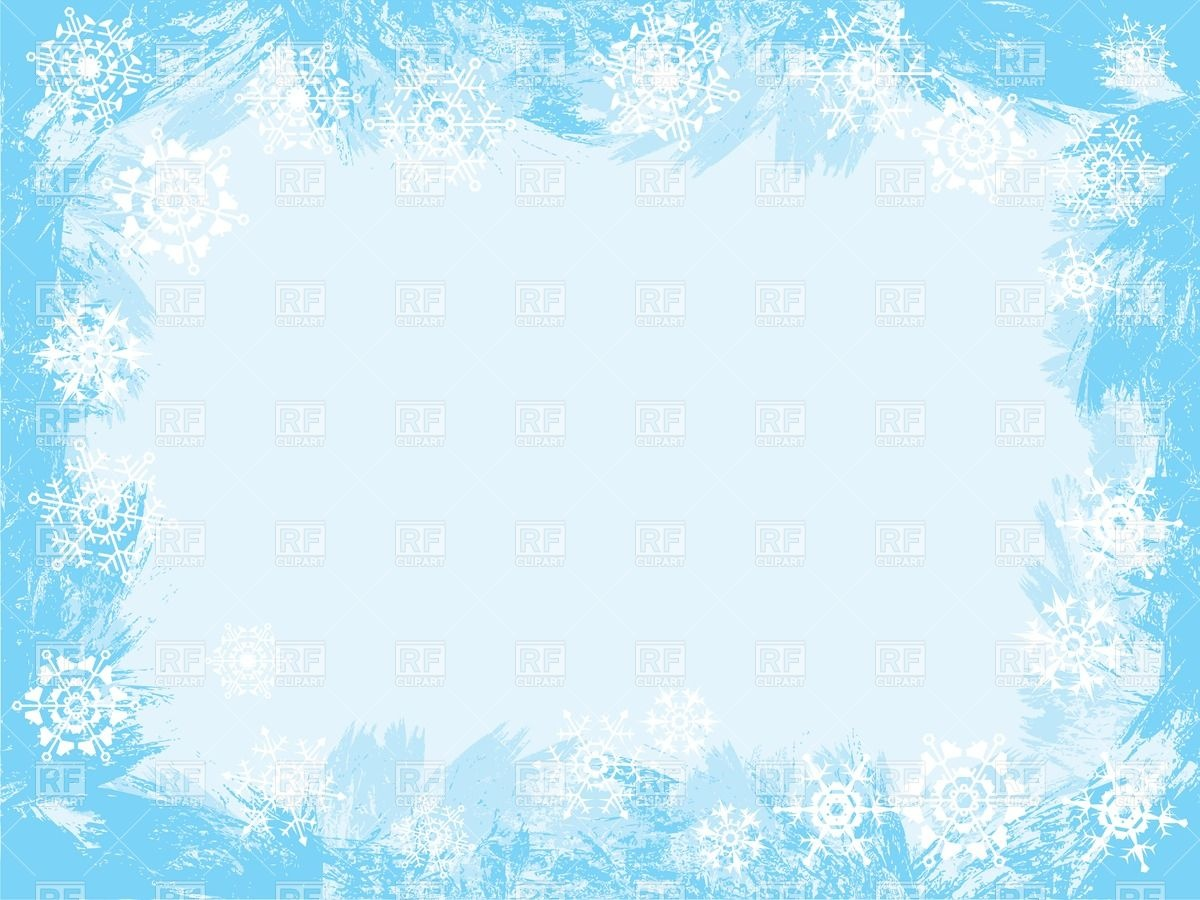 Winter icy frame Stock Vector Image.