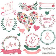 Flower frames bicycle and branches Digital Clipart Banners and.