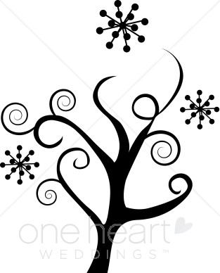 Winter Flowers Clipart.