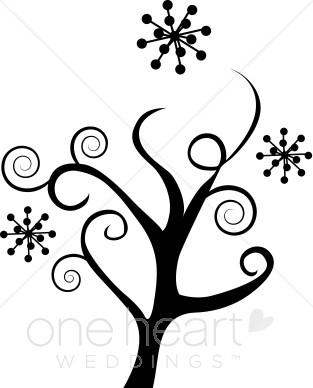 Winter Flowers Clipart.