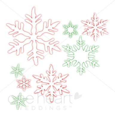 Winter Wedding Clip Art.