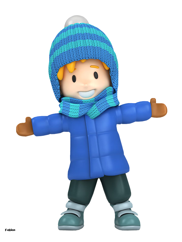 WINTER LITTLE BOY CLIP ART.