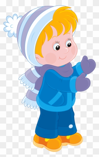 Fresh Winter Boy Character Png And Psd Clipart.