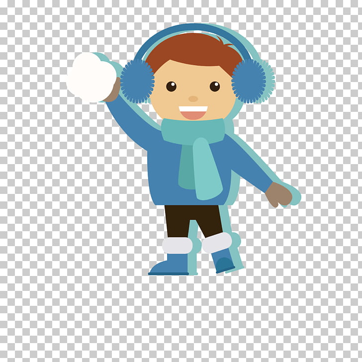 Child Winter, Boy PNG clipart.