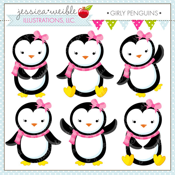 1208 Penguins free clipart.