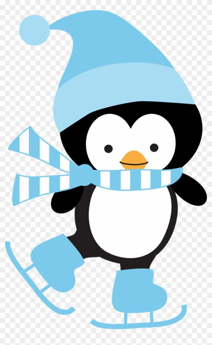 Cute Penguin Clip Art Cute Cartoon Winter Penguins Image.