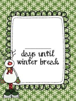 FREE Countdown to Winter Break.