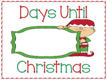 Elf Christmas Winter Break Countdown Sign FREEBIE.