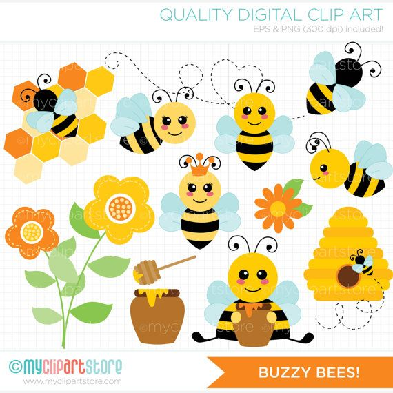 Buzzy Bees / Honey Bee / Bumble Bee Clip Art / by.