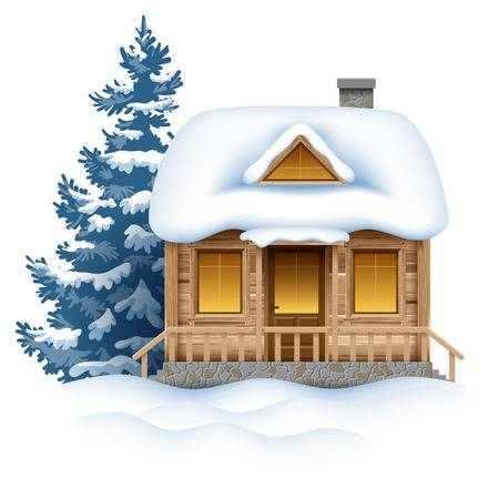 2,511 Winter Cabin Stock Illustrations, Cliparts And Royalty Free.