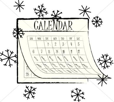 Calendar clipart winter, Calendar winter Transparent FREE.
