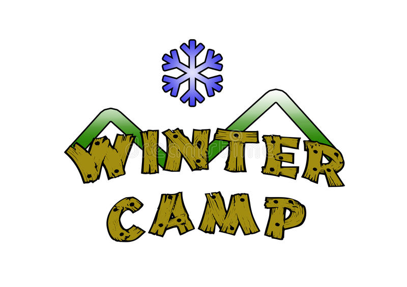 Winter Camp Stock Illustrations.
