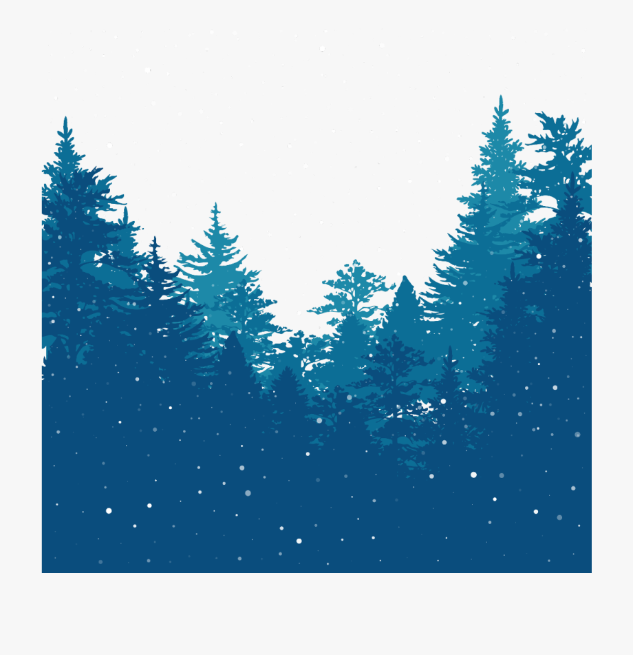 ftestickers #winter #trees #pine #snow #silhouette.