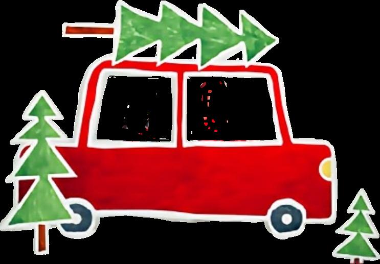 christmastree christmas winter car holidays.