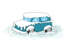 Winter Car Clipart.