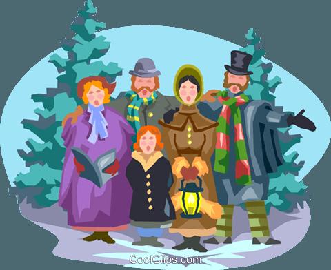 winter celebration Royalty Free Vector Clip Art illustration.