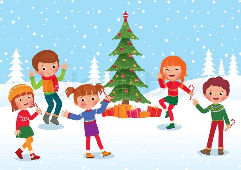 Children celebrate the winter holidays.