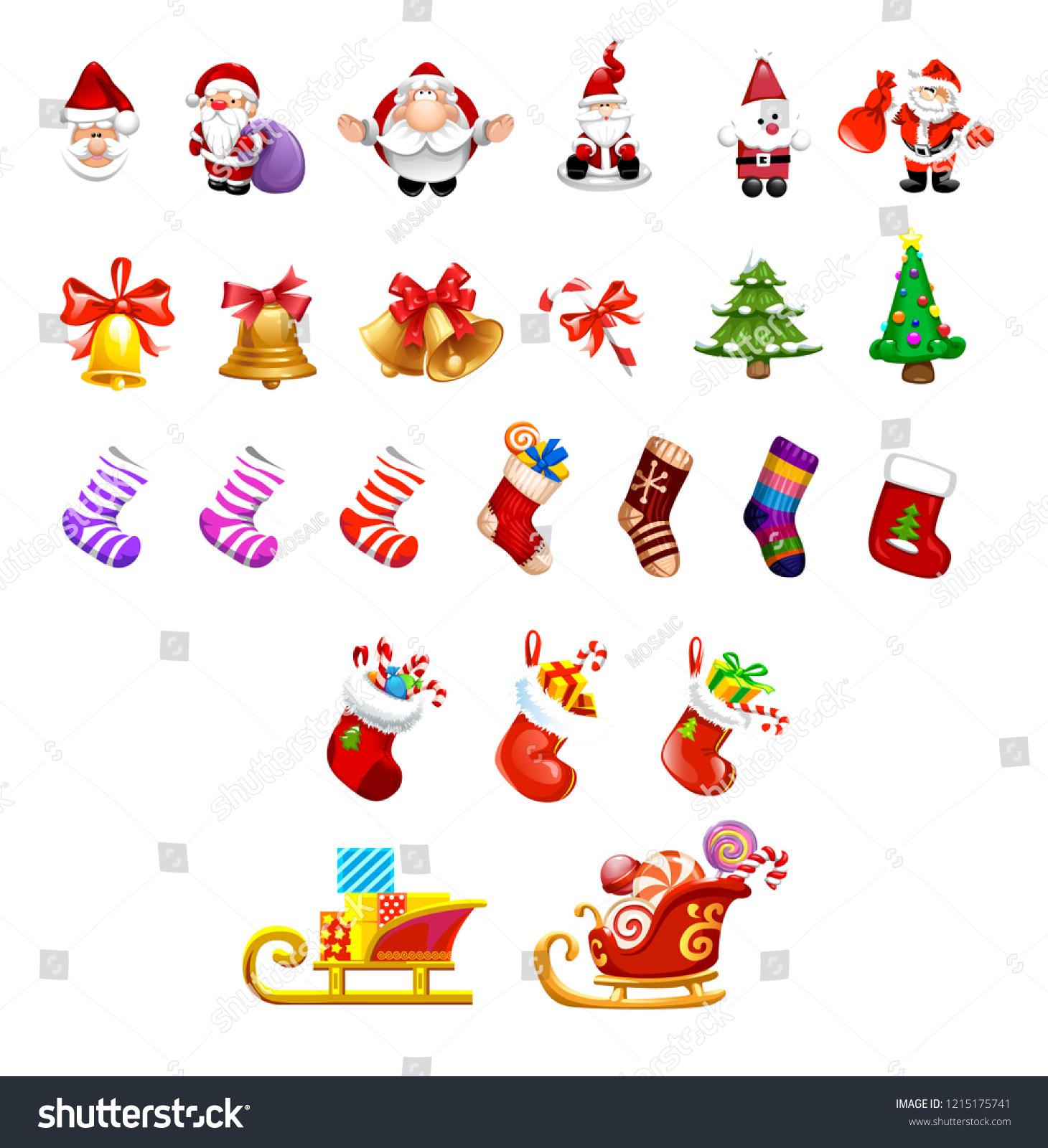 Vector Set Cute Winter Celebration Items Stock Vector (Royalty Free.