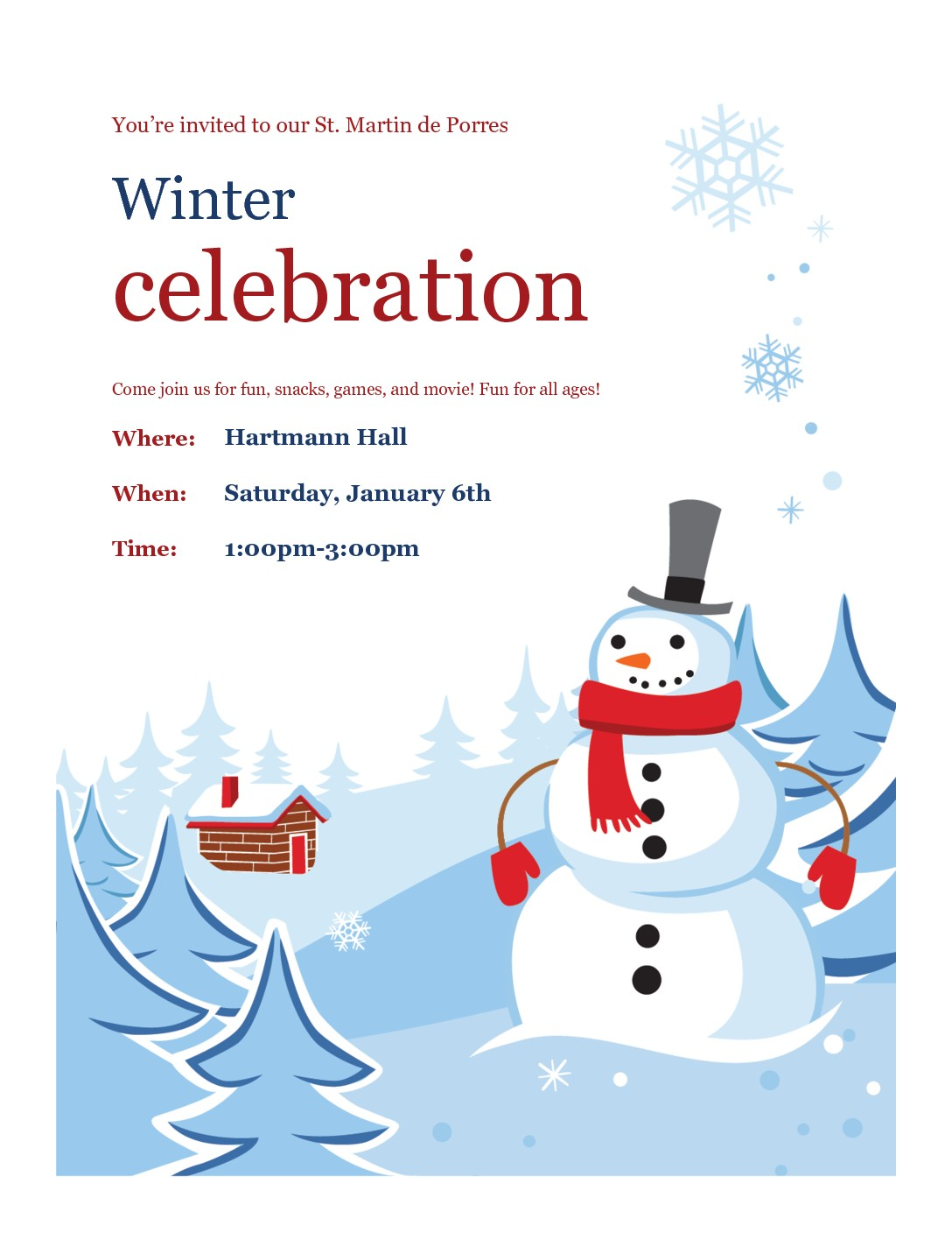 St. Martin de Porres Parish: Winter Celebration.