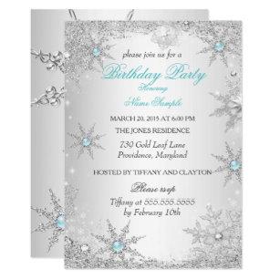 winter party invitation.