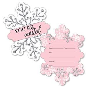 Big Dot of Happiness Pink Winter Wonderland.