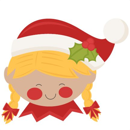 Christmas Elf Girl SVG scrapbook cut file cute clipart files for.